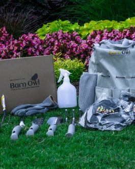 Barn Owl 9 Piece Stainless Steel Garden Tools with tote bag, Barn Owl Bucket Hat, T-shirt & bonus hand sanitizer